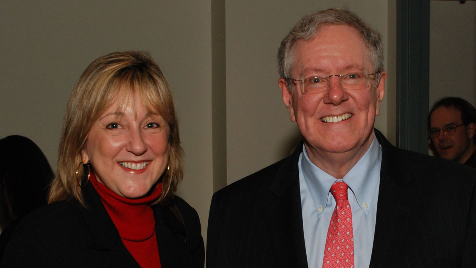 Donde Plowman with Steve Forbes