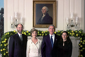 John Anderson with President Bush