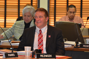 Reznicek at Nebraska Board of Regents meeting
