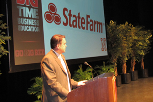 Dean Van Loon of State Farm Speaks at Lied Center Ethics Event