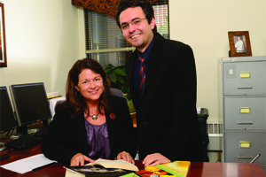Mihdi Vahedi with Dr. Donna Dudney