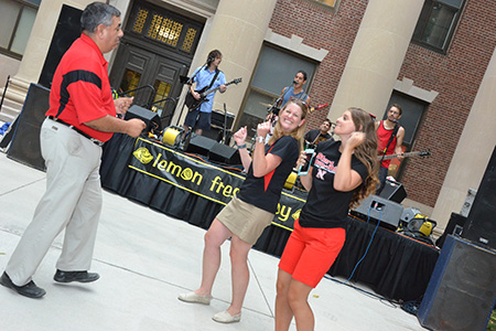 Barrera livens things up at the annual CBA Back to School Bash