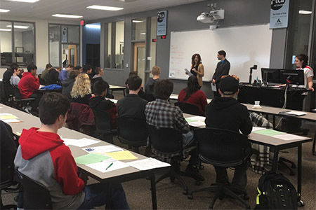 Students from Lincoln Public School Career Academy turned out to receive job preparation tips.