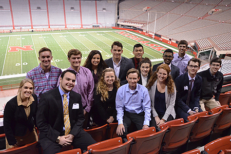 First cohort at Memorial Stadium