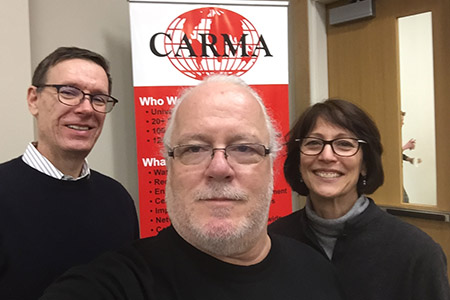 Bergh, Williams and Locke selfie it up at the CARMA webcast.