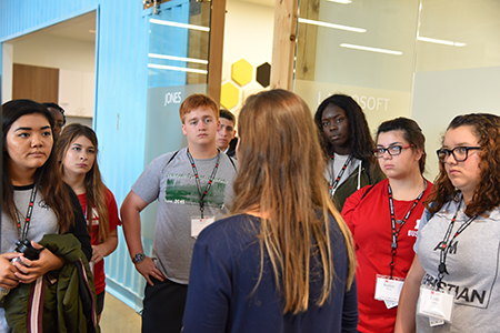 Student visits Spreetail on Innovation Campus to learn more about what it takes to succeed in business.