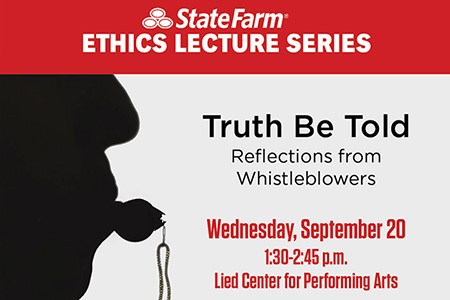 The State Farm Ethics Lecture Series is co-sponsored by the College of Law and the College of Journalism and Mass Communications.