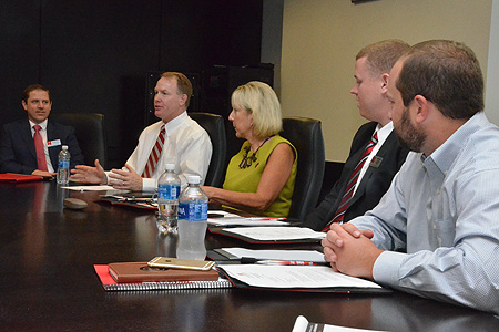 Athletic Director Sean Eichorst meets with new MAIAA board