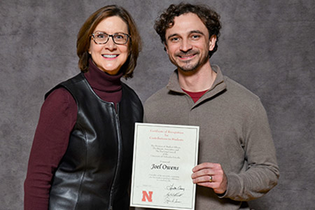 Dr. Joel Owens (right) received the award for the second year in a row.