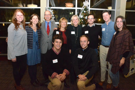 Plowman with faculty and student advisory board members