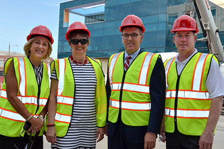 Plowman with Jane and Ronnie Green and Shawn Eichorst
