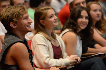 PrEP students react to strengths lecture