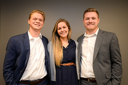Stetson Heirigs, Caitlin Kunz and Daniel Woodworth
