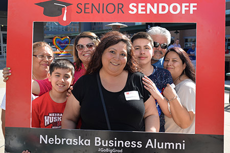 Theresa Ferguson of Lincoln celebrated her graduation with family at the Senior Sendoff.