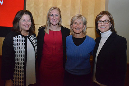 Dudney, Fowler, Revelle and Beck at Women's Breakfast