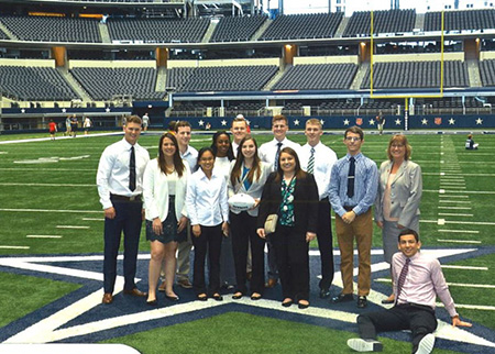 The Dallas Career Expedition attendees at AT&T Stadium.