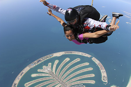 Sohi skydiving in Dubai