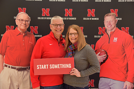 Darren, '91 and Kathy Lunzmann started something their first time in Hawks Hall.
