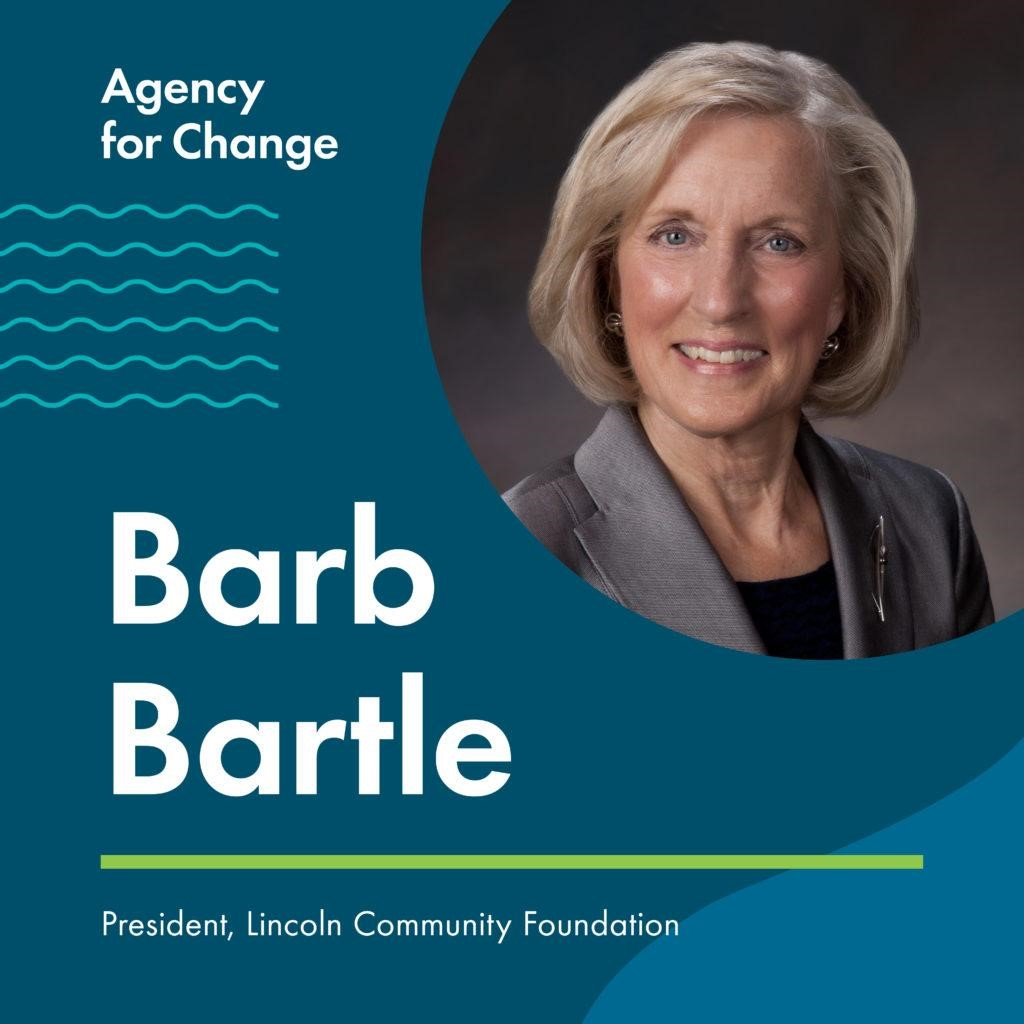 Barb Bartle, president of the Lincoln Community Foundation, spoke to the Strive to Thrive students.