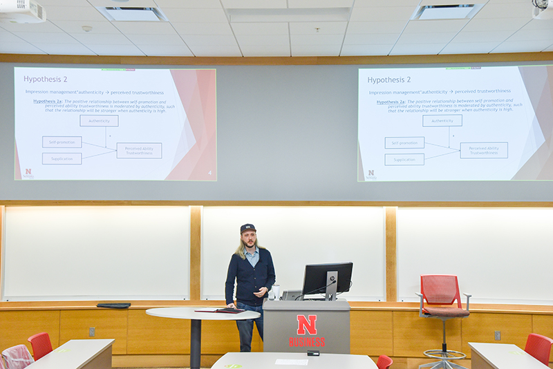 Hanna defended his dissertation this spring where he closely examined emergent leadership, a developing research topic in the field of management