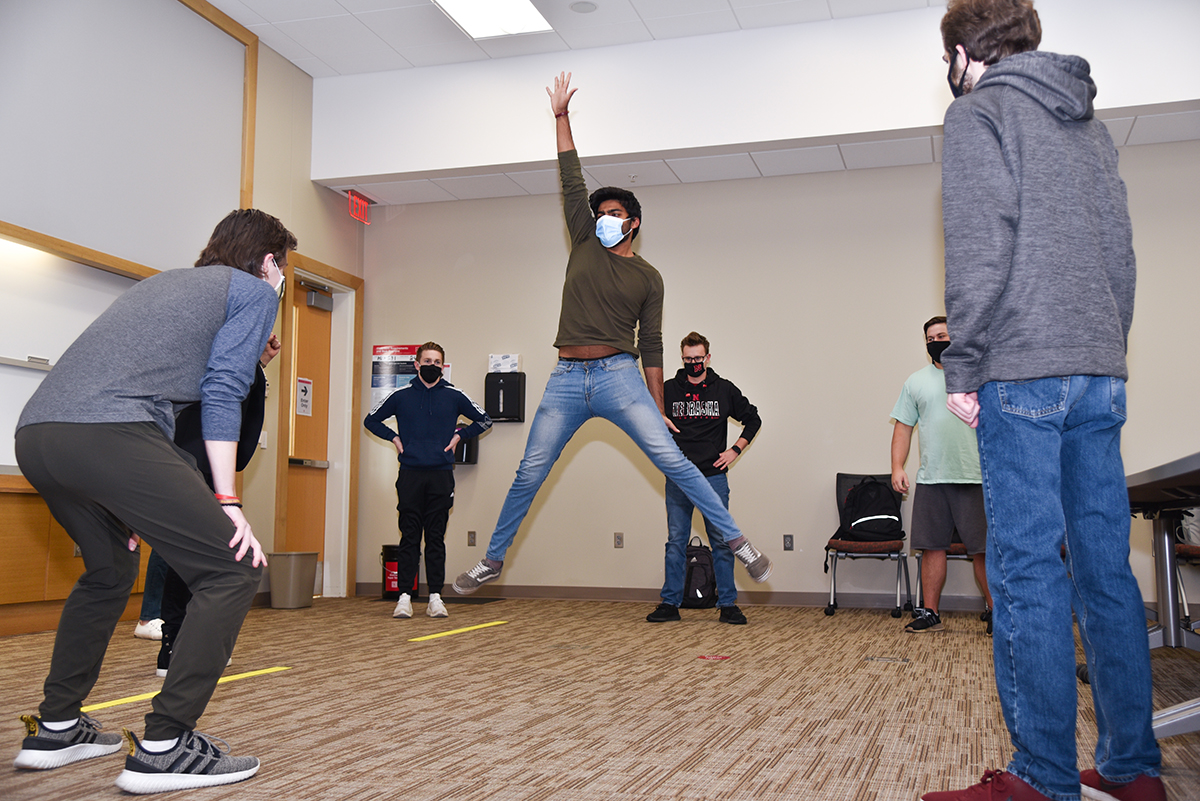 Students are encouraged to get out of their comfort zones when they practice