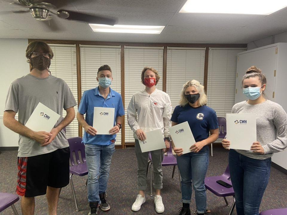 Students participated in a service project event at Clinic With a Heart, a faith-inspired organization, that serves people who are uninsured and underinsured through a ministry of healthcare.