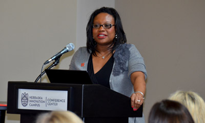 Williams gives luncheon address