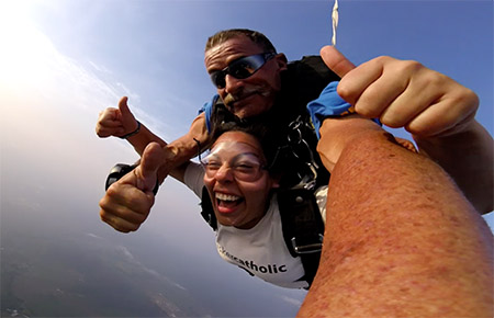Skydiving over Cairns with the world's greatest tandem partner, GJ.