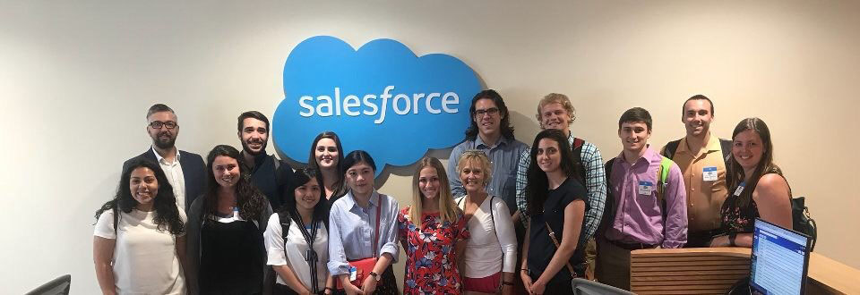 Our group with Salesforce representative Merlin Luck and Global Academic Ventures guide Erin.