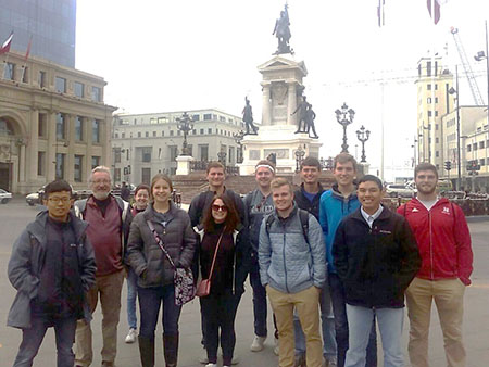 Students visited Valparaiso, the city on the sea.