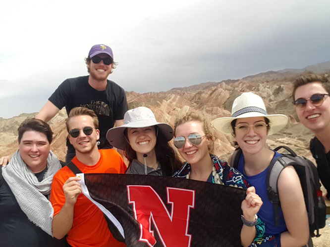 These Nebraska students said yes to climbing the Rainbow Mountains.