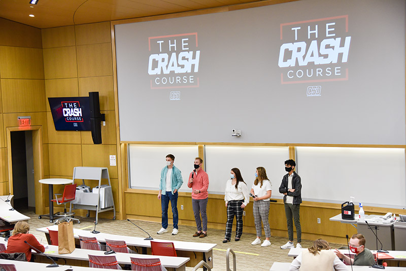 The program ended with students presenting their final results – a gross profit of more than $3,000. After paying expenses for the products, students earned more than $2,100.