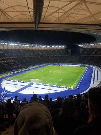 Game inside the Olympiastadion