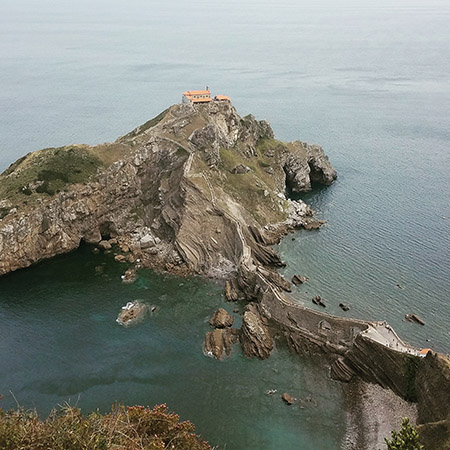 Gaztelugatxe as seen from above.