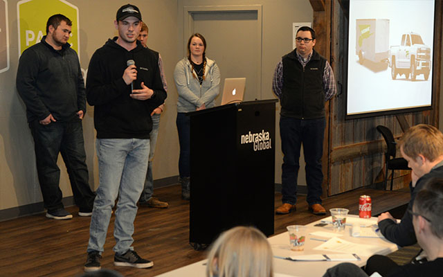 Hofeling helped present the culmination of his business venture to a panel of judges at Lincoln Startup Weekend.