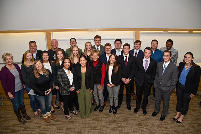 The six-week competition culminated in a final presentation teams from the 17 honors students gave to business leaders from Arbor Day Farm.