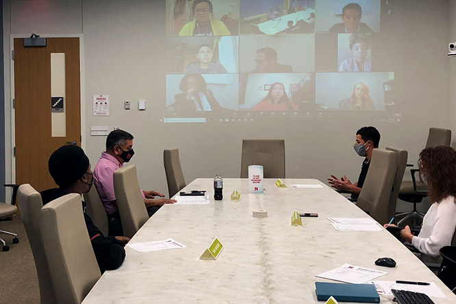 At their first meeting, board members met in person and via Zoom to discuss the college's goals and their critical tasks, actions and metrics to measure success.