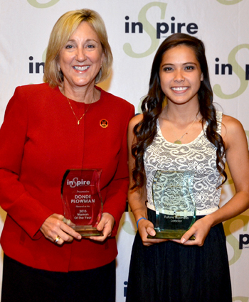 Plowman and Whitacre receive award