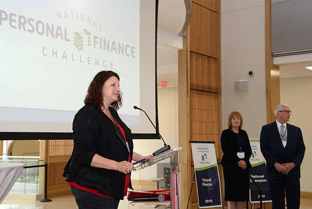 Davidson played an instrumental role in bringing the National Personal Finance Challenge to the College of Business.