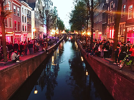 Amsterdam's famous Red Light District.