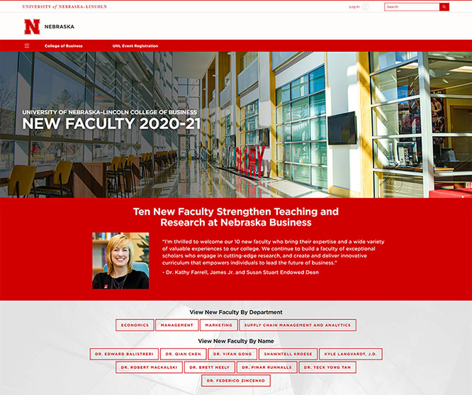 The ten new College of Business faculty are featured on a new web page highlighting their accomplishments.