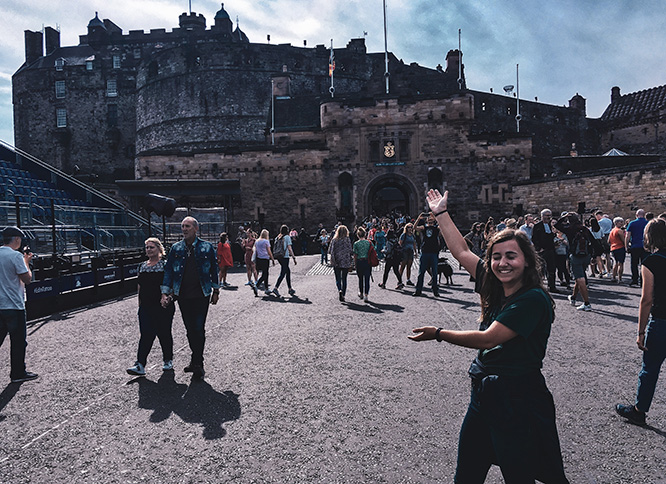 Visiting the Edinburgh Castle in Scotland. Don't blink!