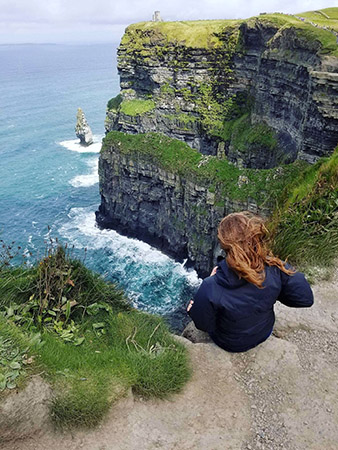 Overwhelmed by the view from the Cliffs of Moher.