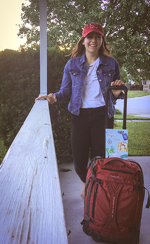 Audrey Erker packs for her trip, recalling American Girl by Tom Petty: She couldn't help thinking that there was a little more to life somewhere else. After all it was a great big world with lots of places to run to.