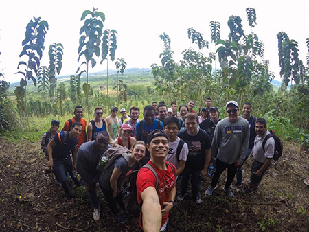 After a semester of preparing their marketing plans, students visited the teak farm they sought to advance.