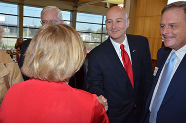 Dean Donde Plowman and Nebraska Governor Pete Ricketts