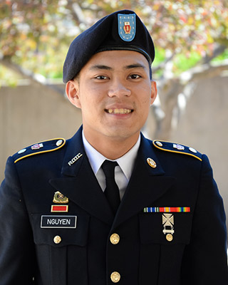 Being in ROTC at Nebraska is just one of Nguyen's many collegiate pursuits.