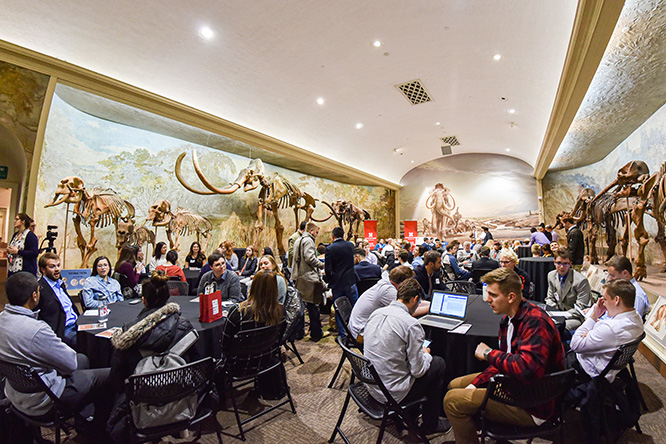 Ninety students gathered in Elephant Hall at Morrill Hall for the competition.