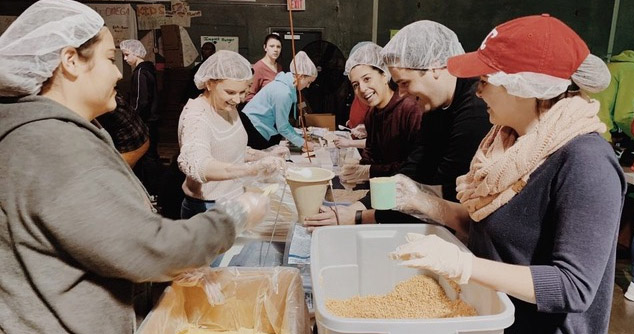 Our chapter 25 service project team had a great time working together and packing meals to make a difference in the lives of those all across the world.