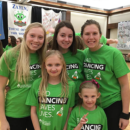 Sydney Goldberg served as a morale captain and family representative for Dance Marathon.